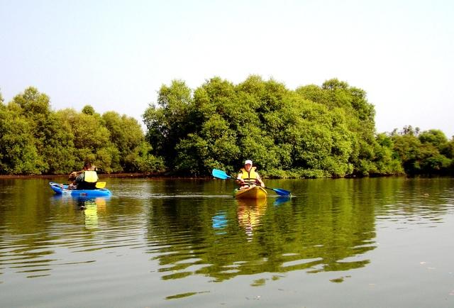 Goa Kayaking in Spike's River