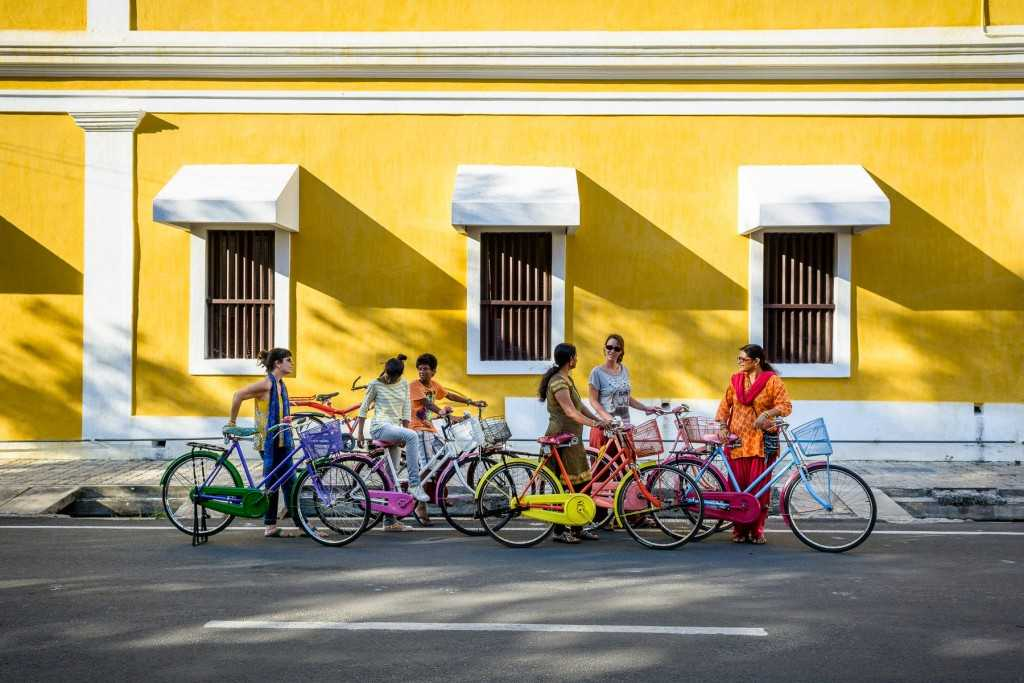 Image result for pondicherry bicycle tour